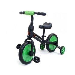 Детский беговел/велосипед ''Тактический'' (Зеленый) - АР-03002 (для детей от 1 до 4 лет, резиновые колеса)