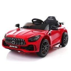 Детский электромобиль Mercedes-Benz GTR AMG BBH-0005 красный (колеса резина, кресло кожа, пульт, музыка)